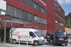 Ever Neuro Pharma head office outdoor in Unterach, Austria. Stock Photos