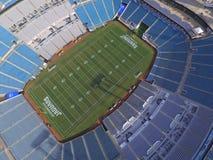 EverBank Field Jacksonville Jaguars Stadium. JACKSONVILLE - AUGUST 19: Aerial photo of EverBank Field home to the Jacksonville Jaguars located at 1 Everbank Royalty Free Stock Photo