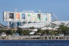 EverBank Field Stadium, Jacksonville, Florida. The EverBank Field stadium located in Jacksonville, Florida Royalty Free Stock Photo