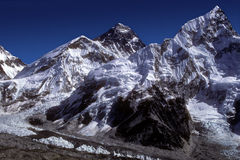 Everest 8848 m. Nepal. The Everest mount is the highest mountain in the world. It is locatd in Nepal, on the China border stock photos