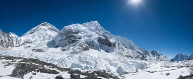 Everest base camp area panoramic view. Extreme resolution Stock Photography