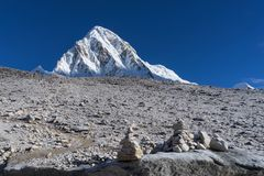 Everest Base Camp EBC Trekking in Nepal stock photo