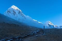 Everest Base Camp EBC Trekking in Nepal stock images