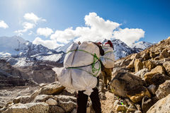 Everest Base Camp mountains landscape Royalty Free Stock Photo