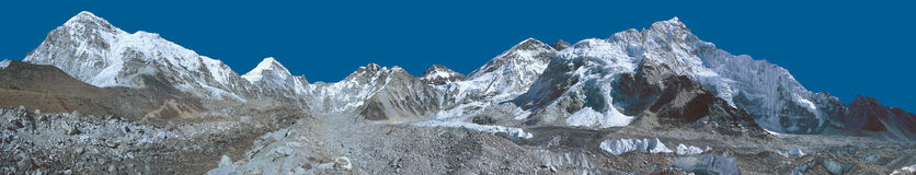 Everest Base Camp Panorama Royalty Free Stock Images