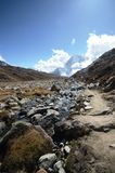 Everest base camp trek Stock Photo