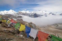 Free Everest Base Camp Trekking Nepal Scenics View Of Himalaya Mountain Range At Renjo La Pass Royalty Free Stock Photography - 153848327