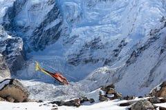 EVEREST BASISkamp TREK/NEPAL - 31 OKTOBER, 2015 stock foto
