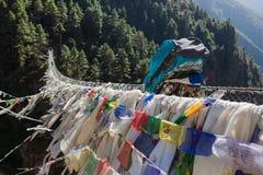 EVEREST BASLÄGER TREK/NEPAL - OKTOBER 19, 2015 Arkivfoton