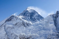 Everest-Bergspitze am frühen Morgen Lizenzfreie Stockfotografie