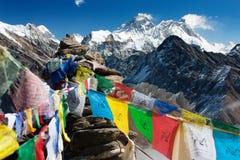 Everest de ri de gokyo Images stock