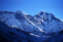 Everest e Lhotse imagem de stock royalty free