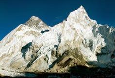 Everest e Nuptse Imagem de Stock Royalty Free