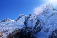 Everest e Nuptse fotografia stock