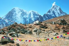 Everest Everest för bergmaximum högst berg i världen Na Arkivfoton