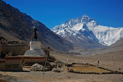 Everest and Flannelette temple Royalty Free Stock Photos