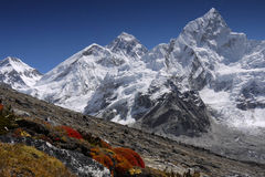 everest himalaya mt Arkivfoto