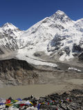 Everest-Himalayas. World's highest peak, Mt Everest. View from Nepal Stock Image