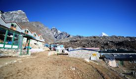 Everest huts Stock Image