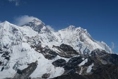 Everest im Sturm stockfotografie