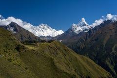 Everest, Lhotse i Ama Dablam halny szczyt w himalaje pasmie, Zdjęcia Royalty Free
