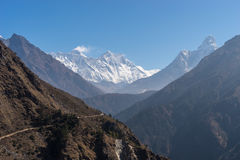 Everest, Lhotse i Ama Dablam widok, Everest region Obrazy Royalty Free