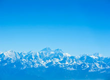 Everest and Lhotse mountain peaks , Nepal. Everest and Lhotse mountain peaks. View from Kala Pattar - Nepal Stock Photos