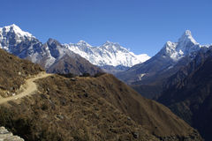 Everest, Lothse and Ama Dablam Royalty Free Stock Images
