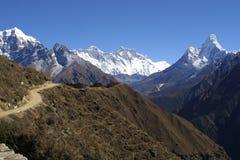 Everest, Lothse en Ama Dablam Royalty-vrije Stock Afbeeldingen