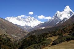 Everest, Lothse en Ama Dablam Royalty-vrije Stock Foto