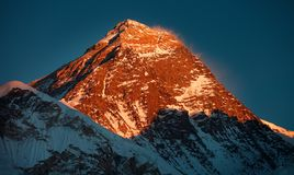 everest montering Arkivfoto