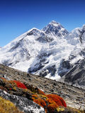 Everest. Mount Everest is Earth's highest mountain, 8, 848 m. Himalaya stock photo