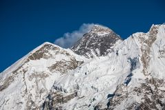 Everest mountain against blue sky.  Stock Photography