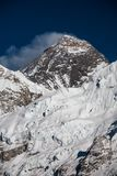Everest mountain against blue sky.  Royalty Free Stock Images