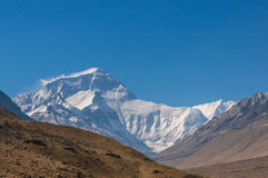 Everest mountain. Everset mountain north face, Tibet China Royalty Free Stock Photography