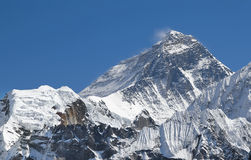 Everest Mountain Peak (Sagarmatha), Nepal. Stock Images
