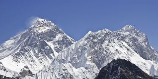 Everest Mountain Peak (Sagarmatha), Nepal. Stock Photos