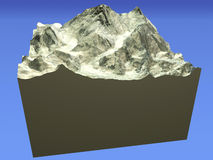 Everest mountain, satellite 3d view Stock Photos