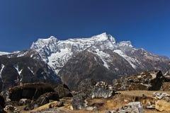 Everest Nepal Himalaya. Track Everest Nepal Himalaya Spring 2012 Royalty Free Stock Photos