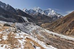 Everest Nepal Himalaya. Track Everest Nepal Himalaya Spring 2012 Stock Photos