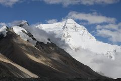 Everest North Slope Royalty Free Stock Images