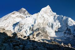 Everest and Nuptse Royalty Free Stock Image