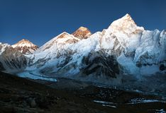Everest and Nuptse from Kala Patthar Stock Image