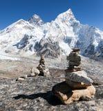 Everest and Nuptse from Kala Patthar Stock Photos