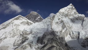 Everest, Nuptse and Lhotse. Mountains view from Kala Patthar in Himalaya, Nepal stock video footage