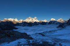 Everest-Panoramablick vom Renjo-Ladurchlauf Lizenzfreie Stockfotografie