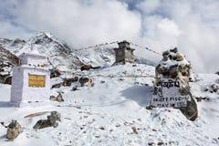 EVEREST PODSTAWOWY obóz TREK/NEPAL - PAŹDZIERNIK 30, 2015 fotografia stock