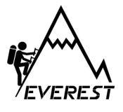 Everest que sube stock de ilustración