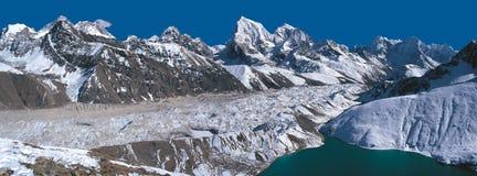 Everest Range Panorama Royalty Free Stock Photography