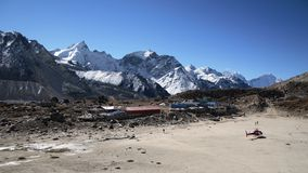 Everest ridge viewed from Kala Pattar. View point Royalty Free Stock Image